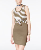 Planet Gold Tie-Waist Bodycon Dress