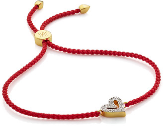 Monica Vinader Alphabet Heart Diamond Friendship Bracelet - LIMITED EDITION