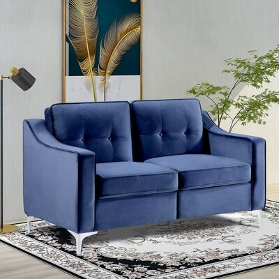 Velvet Tufted Loveseat Shop The World S Largest Collection Of Fashion Shopstyle