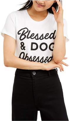 Love Tribe Juniors' Blessed & Dog Obsessed T-Shirt