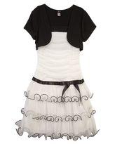 Amy Byer Iz mock-layer bolero dress - girls 4-6x