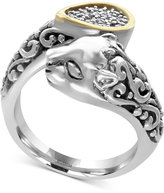 Effy Diamond Accent Panther Bypass Ring in Sterling Silver and 18k Gold