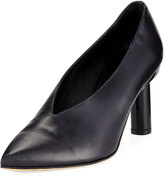 Tibi Zuri Smooth Leather High-Vamp Pump
