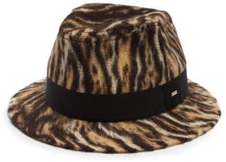 Saint Laurent Leopard-print Felt Trilby Hat - Leopard