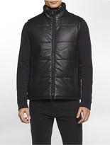 Calvin Klein Faux Leather Puffer Vest
