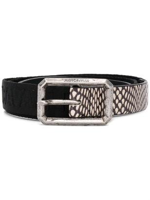 Just Cavalli Snakeskin Effect Belt