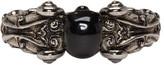 Alexander McQueen Silver Black Skull Ring