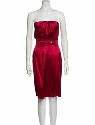 Dolce & Gabbana Silk Mini Dress Red