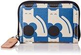 Orla Kiely Poppy Cat Print Medium Zip Wallet