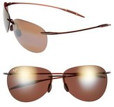 Maui Jim Women's 'Sugar Beach - Polarizedplus2' 62Mm Rimless Sunglasses - Gloss Black/ Neutral Grey