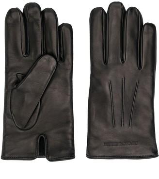Emporio Armani Engraved Logo Gloves