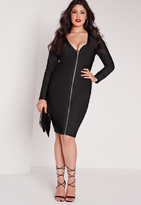 Missguided Plus Size Bandage Midi Dress Black