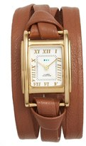 La Mer 'Milwood' Leather Wrap Watch, 35mm
