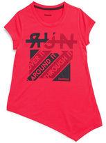 Reebok Girls 7-16 Asymmetric Run Tee