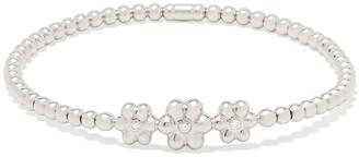 Monan 18kt White Gold Diamond Floral Detail Bracelet