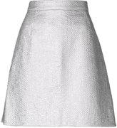 Carven metallic (Grey) A-line skirt