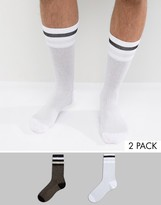 Asos Sports Style Socks With Glitter 2 Pack