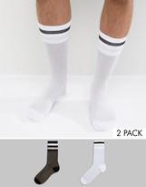 Asos Tube Style Socks with Glitter 2 Pack