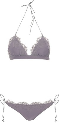 Oseree Travaille Lace Trim Bikini