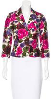 Tibi Silk Floral Print Blazer