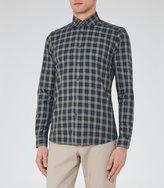 Reiss Reiss Saint - Slim Checked Shirt In Green, Mens