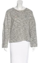L'Agence Textured Round Neck Sweater
