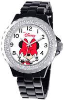 Disney Princess Disney Minnie Mouse Womens Black Bracelet Watch-W000502