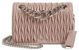 Miu Miu 'Club' Matelasse Leather Shoulder Bag - Beige