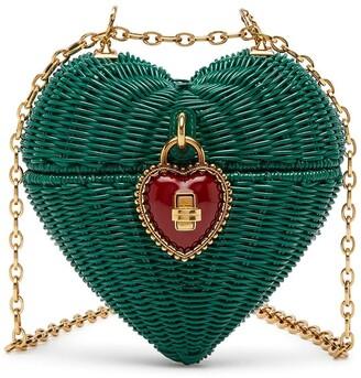Dolce & Gabbana Heart Box Wicker Bag