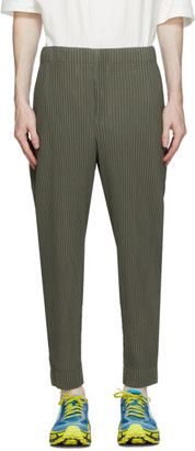 Homme Plissé Issey Miyake Khaki Monthly Colors June Trousers