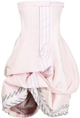 Thom Browne Strapless Ruched Dress