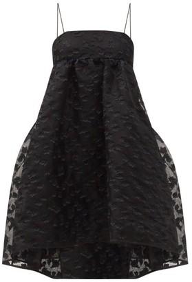 Cecilie Bahnsen Lisbeth Daisy-applique Organza Dress - Black