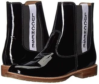 Lucchese All-Weather Waterproof Garden Boot (Black Patent) Women's Rain Boots