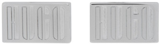 HUGO BOSS Silver E-Logo2 Cufflinks