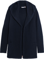 Chinti and Parker Merino Wool And Cashmere-blend Hooded Cardigan - Navy