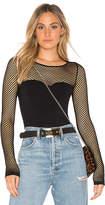 Joe's Jeans Meg Mesh Bodysuit in Black. - size M/L (also in XS/S)
