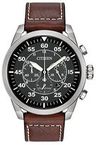 Citizen Eco-Drive Avion Stainless Steel Chronograph