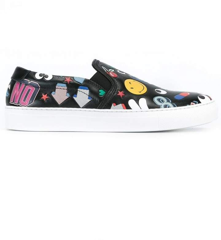 Anya Hindmarch multi patch sneakers