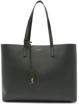 Saint Laurent Shopping Bag Leather Tote Bag - Womens - Dark Green
