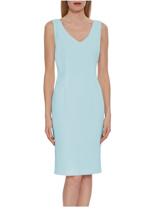 Gina Bacconi Merna Crepe Shift Dress