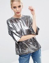 Asos T-Shirt In Metallic