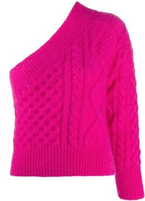 Laneus One-Shoulder Knit Jumper