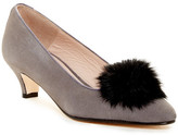 Patricia Green Cara Genuine Rabbit Hair Pompom Block Heel Pump