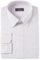 Club Room Men's Estate Classic/Regular Fit Wrinkle Resistant Red Twill Tattersal Dress Shirt, Only at Macy's
