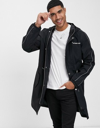 The Couture Club piped lightweight trench logo jacket