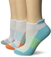 Saucony Women's 3 Pack Polka Dot No Show Athletic Sport Peformance Socks