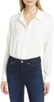 Diane von Furstenberg Leanna Stretch Silk Button-Up Shirt