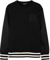 Alexander Mcqueen Black Contrast-sleeve Cotton Jumper