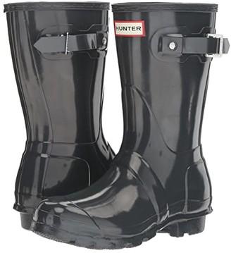 Hunter Short Gloss Rain Boots (Dark Slate) Women's Rain Boots