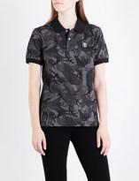 Aape Camo-patterned cotton-piqué polo shirt